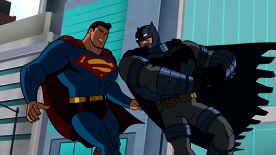 caricaturas batman vs superman pelea