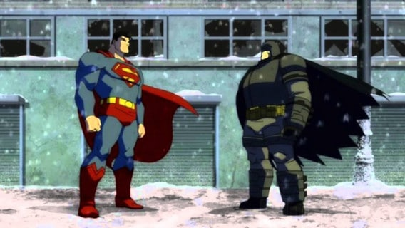 caricaturas batman vs superman pelicula