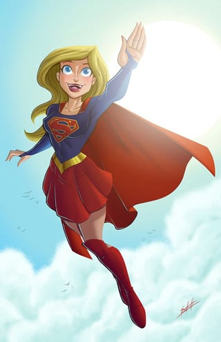 caricaturas de super heroes mujer