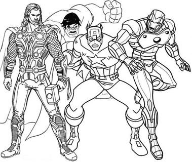 dibujos de ironman para colorear con los vengadores