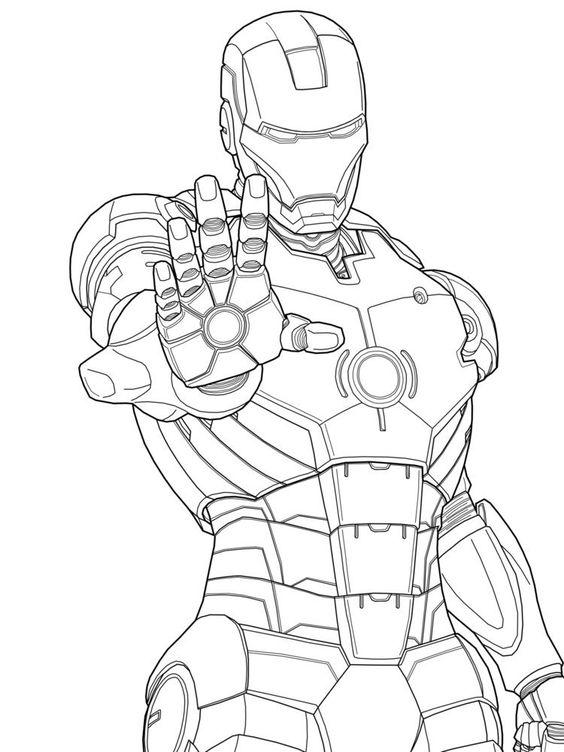 Imagenes De Dibujos De Ironman Para Colorear E Imprimir