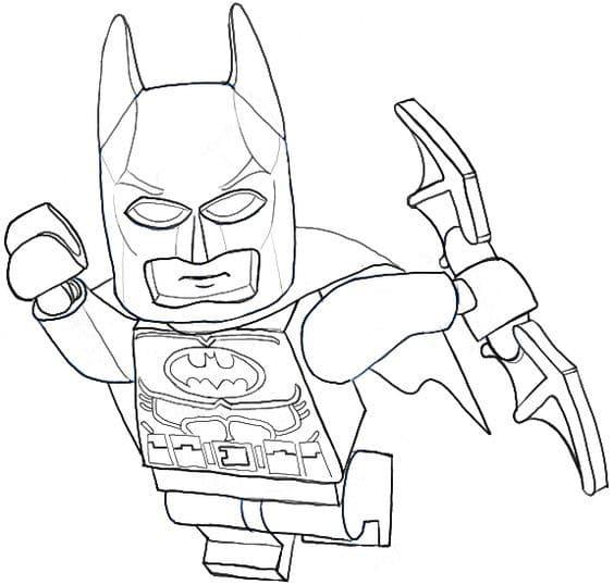 Divertidos Dibujos De Lego Batman Para Imprimir Y Colorear