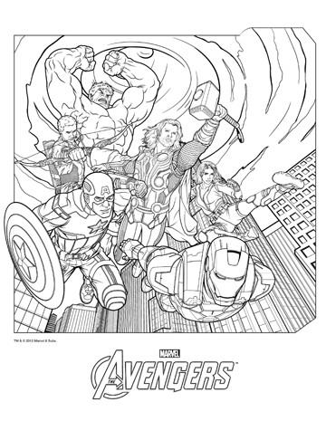 dibujos de superheroes para imprimir avengers