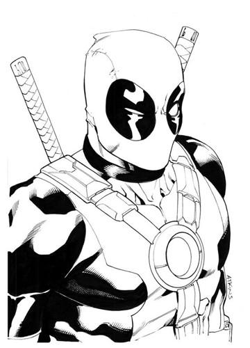 dibujos de superheroes para imprimir deadpool