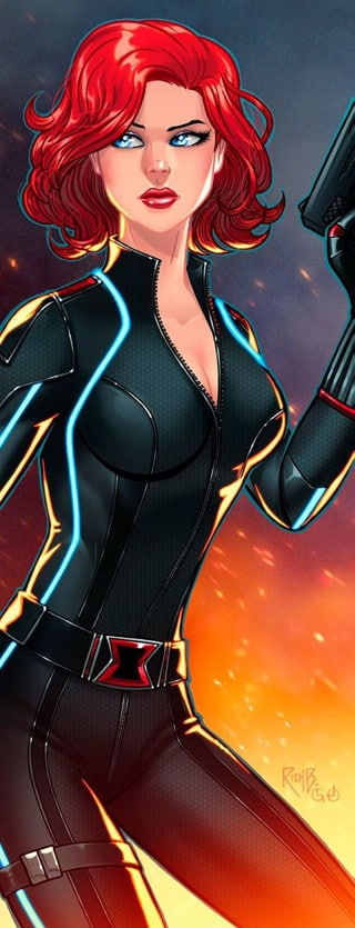 fotos de black widow en caricatura