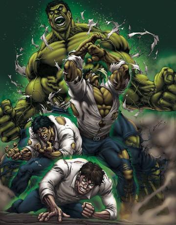 imagen de hulk enojado transformacion
