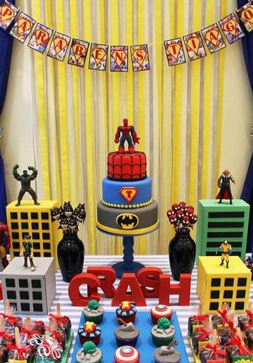 imagenes de cumpleaños de superheroes para niños