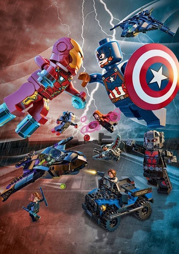 imagenes de lego avengers pelea
