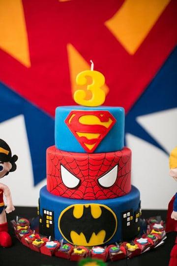 imagenes de torta del hombre araña circular