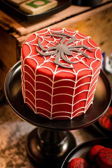 imagenes de torta del hombre araña facil