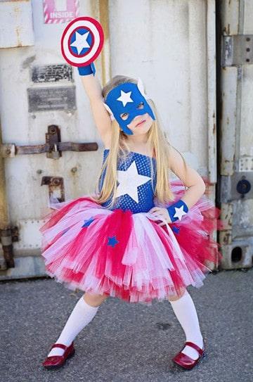 trajes de capitan america para niños y niñas