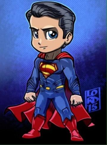 caricaturas de superman y la mujer maravilla