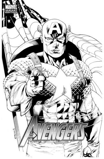 dibujos para colorear capitan america avengers