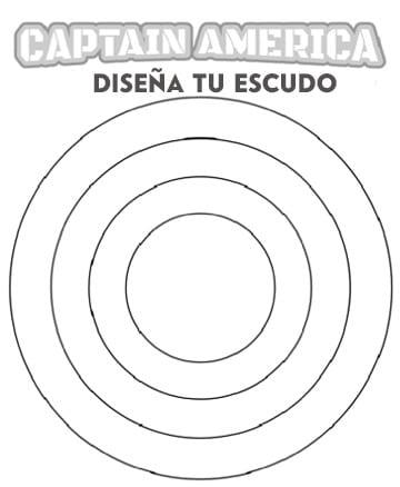 dibujos para colorear capitan america escudo