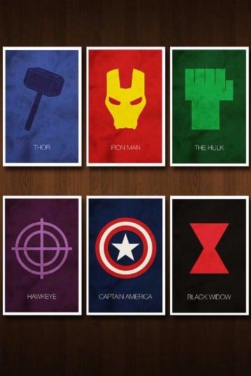escudos de superheroes marvel