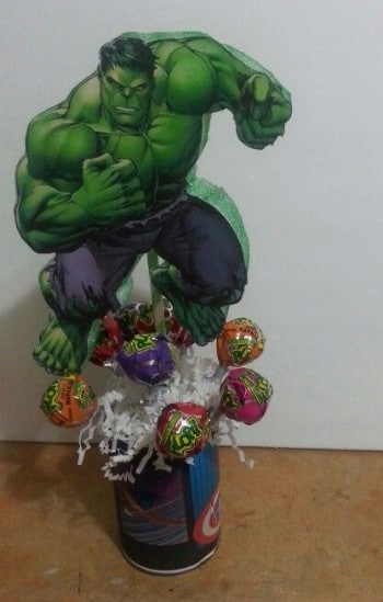 centros de mesa de hulk dulcero