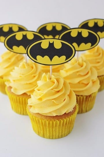 cupcakes de superheroes batman