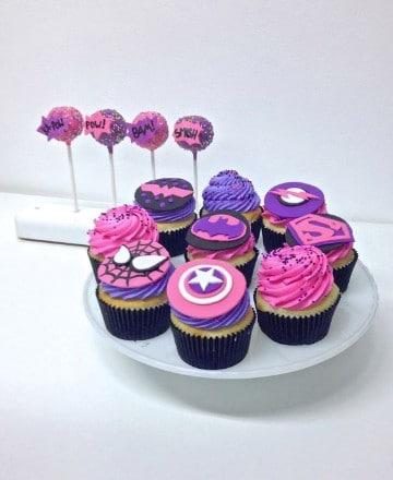 cupcakes de superheroes de los vengadores