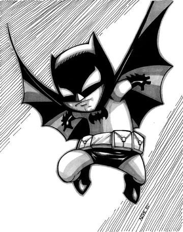 Baby NEW: Baby Toothpick DC Comics + Quick Shop Fuzzy Batman Blue, 14