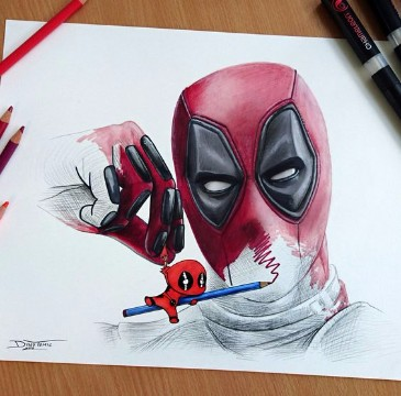 Tremendos Dibujos De Deadpool A Lapiz Facil De Hacer Imagenes De