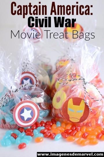 dulceros del capitan america sencillos
