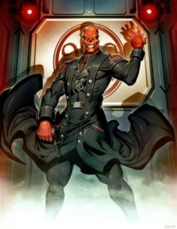 enemigos del capitan america red skull