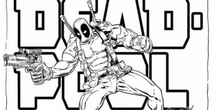 Imagenes Para Colorear De Deadpool Como Dibujar A Deadpool