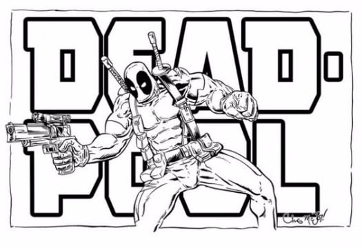 Geniales imagenes de deadpool para dibujar y colorear for Deadpool printable coloring pages