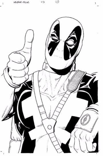Geniales imagenes de deadpool para dibujar y colorear imagenes de marvel - Dessin deadpool ...