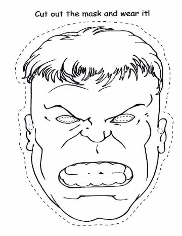 imagenes de hulk para colorear gratis