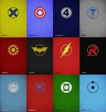 logos de los superheroes dc