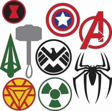 logos de los superheroes marvle