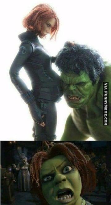 memes de hulk y black widow