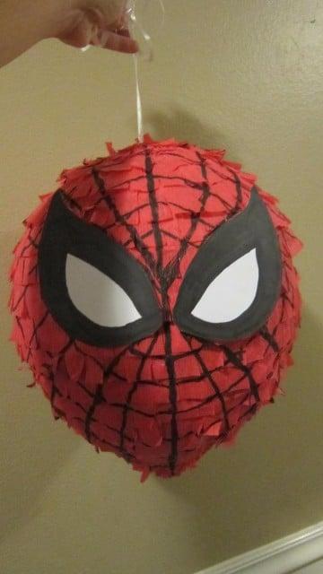 piñatas del hombre araña para hacer