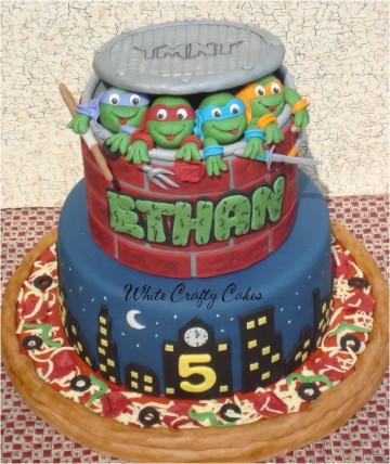 tortas de las tortugas ninjas decoradas