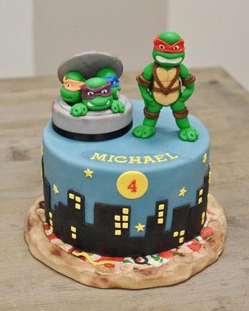 tortas de las tortugas ninjas infantiles
