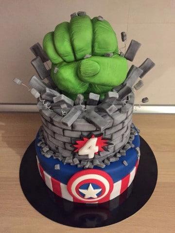 tortas del increible hulk con decoracion