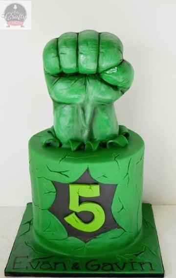 tortas del increible hulk para 5 años