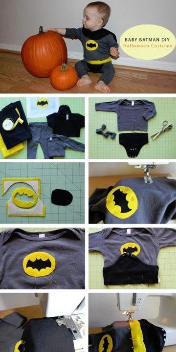 como hacer un disfraz de batman bebe