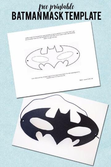 como hacer una mascara de batman de carton