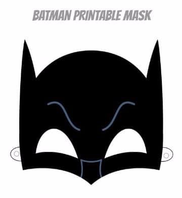 como hacer una mascara de batman para imprimir