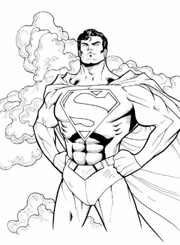 Infantiles dibujos para colorear de superman y batman for Super man coloring page