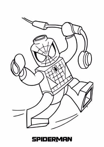 Dibujos Para Colorear Del Hombre Araña O Spiderman Online Imagenes