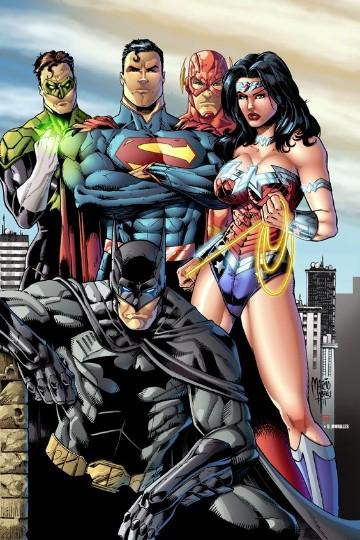 imagenes de la liga de la justicia- para colorear