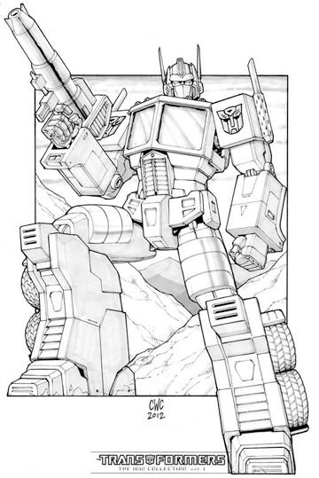 imagenes de optimus prime para colorear