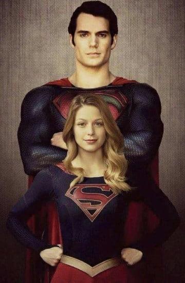 imagenes de super chica y superman