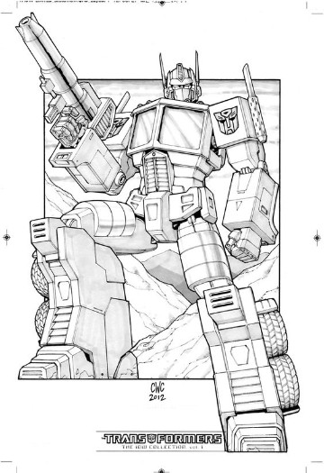 imagenes de transformers optimus prime para colorear
