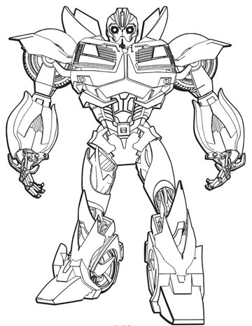 Dibujos e imagenes de transformers para colorear for Transformers prime beast hunters coloring pages