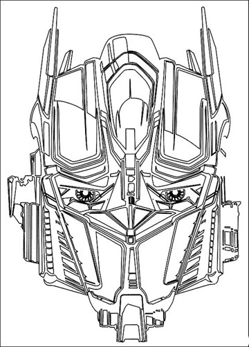 imagenes de transformers para colorear optimus