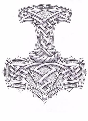 imagenes del martillo de thor para colorear